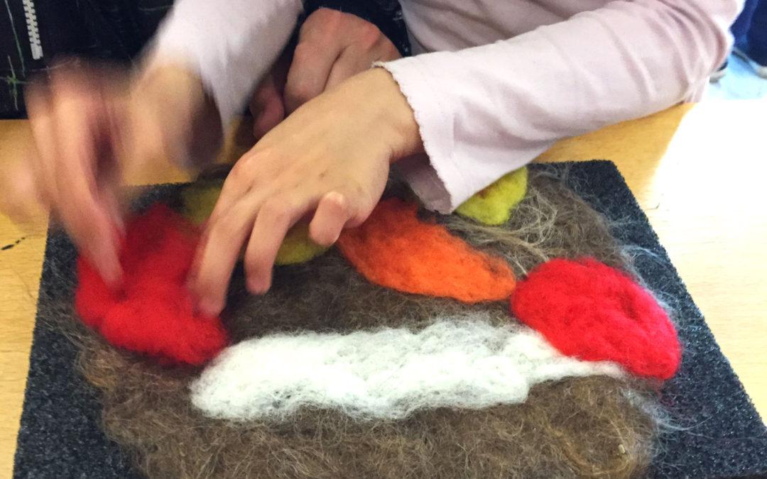 Lær å tove ull til julepynt
